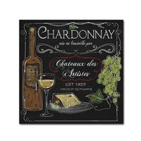 Fiona Stokes-Gilbert 'Wine Chalkboard IV' Canvas Art