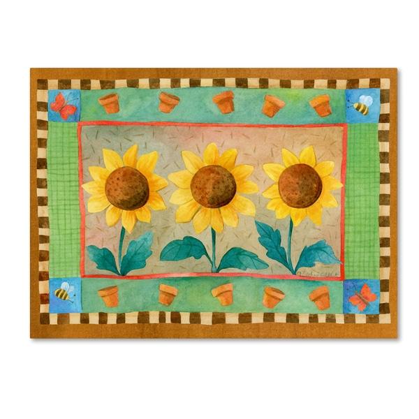 Fiona Stokes-Gilbert 'Sunflowers' Canvas Art