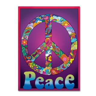 Fiona Stokes-Gilbert 'Peace' Canvas Art