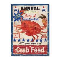Fiona Stokes-Gilbert 'Crab Feed' Canvas Art