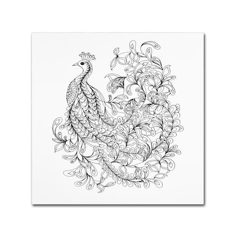The Tangled Peacock 'Fancy Peacock' Canvas Art