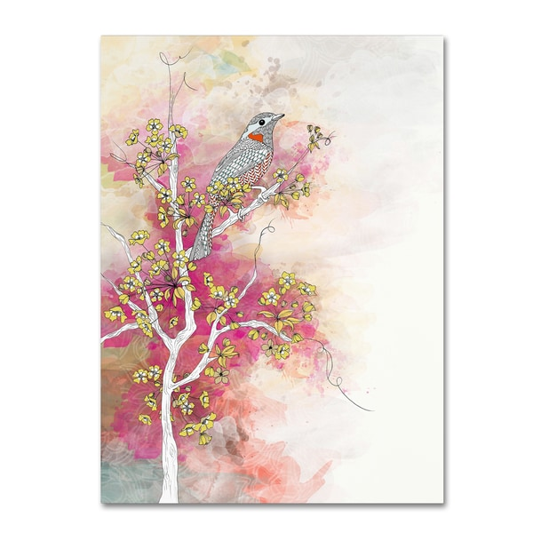 Shop The Tangled Peacock Summer Blossom Canvas Art On