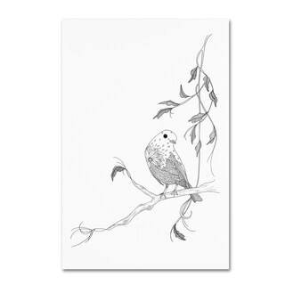 The Tangled Peacock 'Winter Robin' Canvas Art