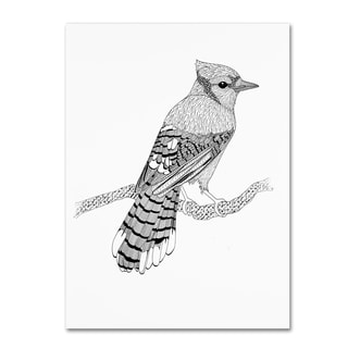The Tangled Peacock 'Blue Jay' Canvas Art