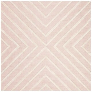 Safavieh Kids Transitional Geometric Hand-Tufted Wool Grey/ Ivory Area Rug (5' x 7')