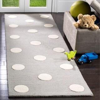 Safavieh Kids Transitional Geometric Hand-Tufted Wool Grey/ Ivory Area Rug (5' x 7')