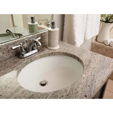 17-1/2-inch European Style Oval Shape Porcelain Ceramic Bathroom Undermount Sink