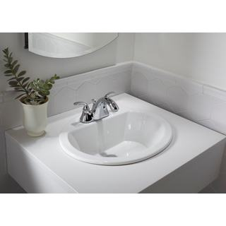 19-inch European Style Oval Shape Porcelain Ceramic Bathroom Topmount / Over the Counter Sink