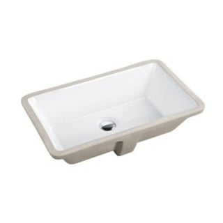 21-3/8-inch European Style Rectangular Shape Porcelain Ceramic Bathroom Undermount Sink