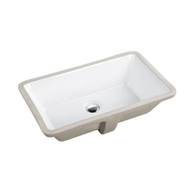21-3/8-inch European Style Rectangular Shape Porcelain Ceramic Bathroom Undermount Sink