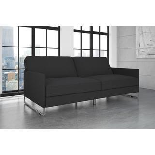 dhp pembroke grey linen convertible futon