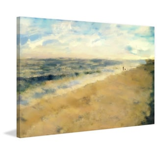 'Beach Walk' Painting Print on Wrapped Canvas