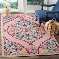 Safavieh Bellagio Contemporary Geometric Hand-Tufted Wool Light Pink/ Multi Area Rug - 4' x 6'