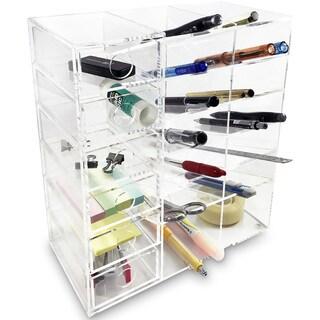 Perfect Ikee Design Acrylic 6 Shelf Office Supply Organizer Storage Drawer Case