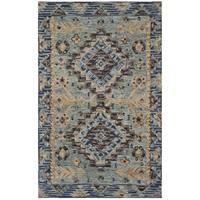 Safavieh Aspen Southwestern Geometric Hand-Tufted Wool Blue/ Beige Area Rug - 4' x 6'