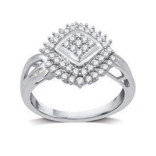 1/2 CTTW Diamond Cocktail Composite Ring in Sterling Silver (I-J, I2-I3)  - White I-J