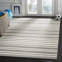 Safavieh Kids Transitional Geometric Hand-Tufted Wool Grey/ Multi Area Rug - 3' x 5'