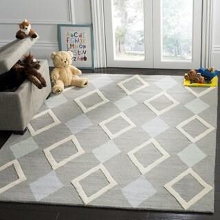 Safavieh Kids Transitional Geometric Hand-Tufted Wool Grey/ Multi Area Rug (3' x 5')