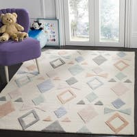 Safavieh Kids Transitional Geometric Hand-Tufted Wool Ivory/ Multi Area Rug - 3' x 5'