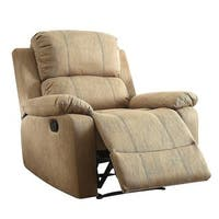 Q-Max Bina Brown Memory Foam Pillow Top Reclining Arm Chair