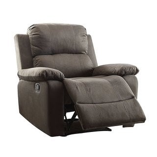 Q-Max Brown Faux Leather Recliner