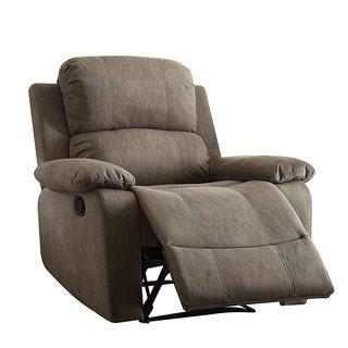 Q-Max Recliner Grey Memory Foam Pillow-top Arm Chair
