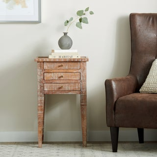 Handmade Clio Tall Side Table (India)