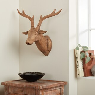Handmade Reindeer Head Statue (India)