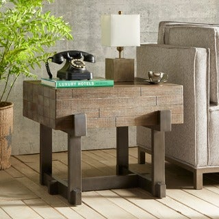 INK+IVY Timber Reclaimed Brown/ Gun Metal End Table
