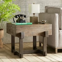INK+IVY Timber Reclaimed Brown/ Gun Metal End Table