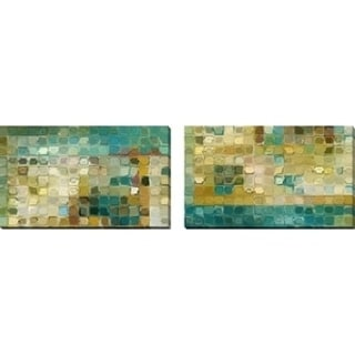 "Mark Lawrence ""Tile Art #5 2016"" Oversized Wall Art Sets of 2"