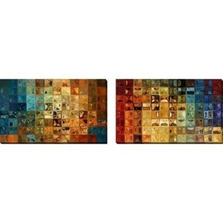 "Mark Lawrence ""Modern Tile Art #11, 2009"" Oversized Wall Art Sets of 2"