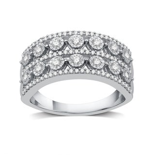 1/2 CTTW Diamond Fashion Band in Sterling Silver (I-J, I2-I3)