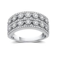 1/2 CTTW Diamond Fashion Band in Sterling Silver (I-J, I2-I3) - White I-J