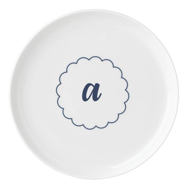 804547e8f6d Shop Lenox I.D. Navy Scallop Accent Plate - Free Shipping On Orders ...
