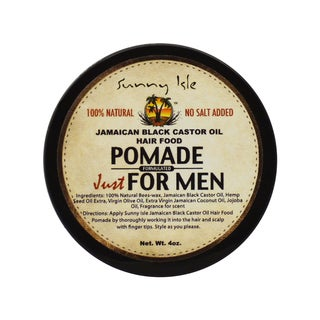 Sunny Isle Jamaican Black Castor Oil 4-ounce Hair Food Pomade Just for Men