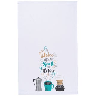 Now Designs Kitchen Towel Wake Up Coffee