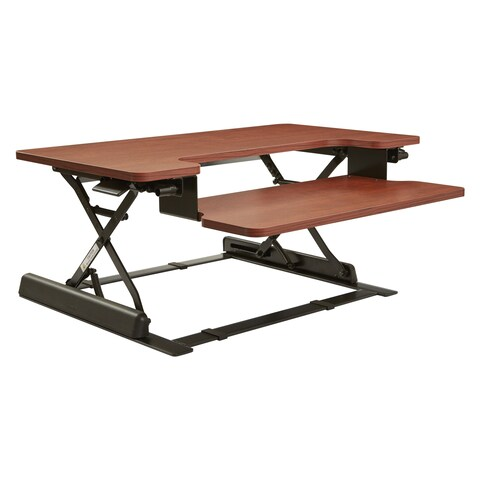 16.75-inch Height Adjustable Multi-position Cherry Desk Riser