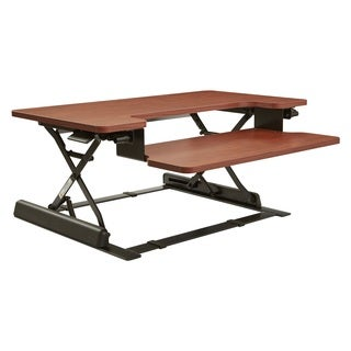 16.75-inch Height Adjustable Multi-position Cherry Desk Riser
