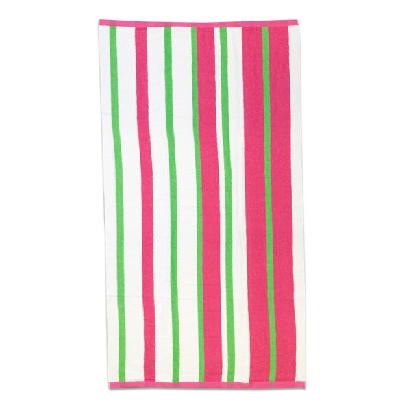 Calypso Stripe 30x60-inch Cotton Beach Towel (Set of 1, 2 or 4)
