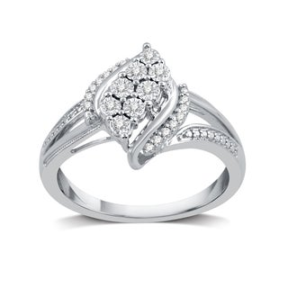 1/10 CTTW Diamond Fashion Ring In Sterling Silver (I-J, I3)
