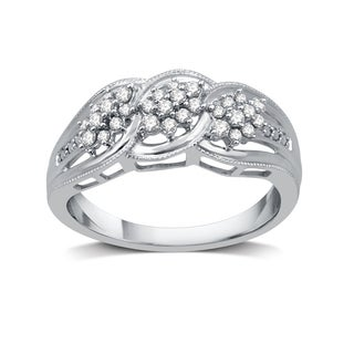 1/4 CTTW Diamond Cluster Fashion Band In Sterling Silver (I-J, I3)