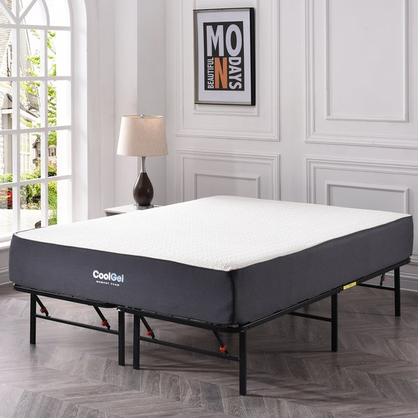 Shop PostureLoft Dahlia Cool Gel Memory Foam 10.5-inch Full-size ...