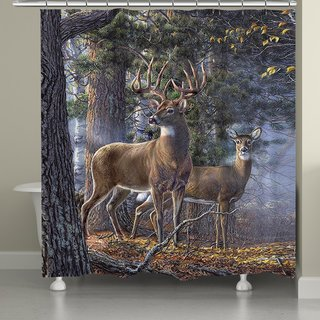 Laural Home Majestic Deer II Shower Curtain