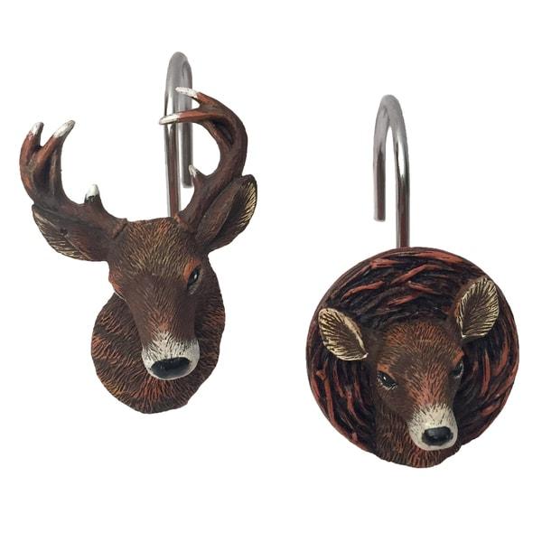 Laural Home Majestic Deer Shower Curtain Hooks