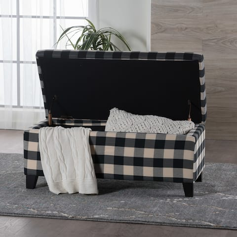 Breanna Contemporary Fabric Upholstered Storage Ottoman by Christopher Knight Home