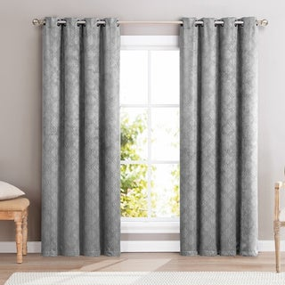 HLC.ME Redmont Lattice Blackout Grommet Curtain Panel