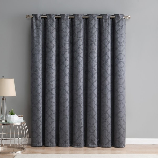 HLC.ME Redmont Lattice Thermal Blackout Grommet Patio Door Curtain ...