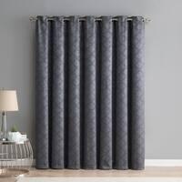 HLC.ME Redmont Lattice Thermal Blackout Grommet Patio Door Curtain Panel