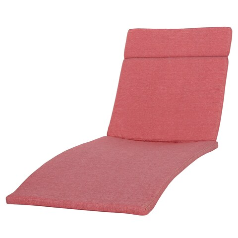 Sienna Outdoor Colored Water Resistant Chaise Lounge Cushion (ONLY) by Christopher Knight Home